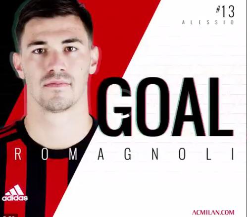 GIF:罗马尼奥利头球破门!米兰1-0领先