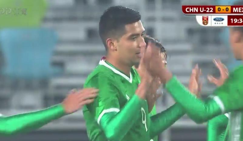 GIF:理查多-马林破门,U22国足0-1墨西哥