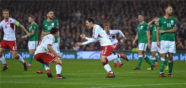 世预赛:埃里克森帽子戏法,丹麦5-1爱尔兰晋级世界杯