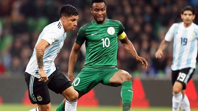友谊赛:伊沃比两球阿圭罗破门,阿根廷2-4尼日利亚