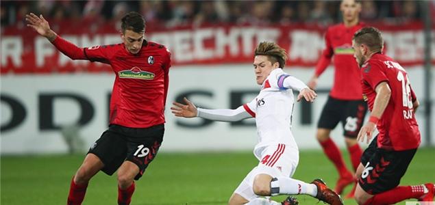 德甲:拉维特破门无效阿尔普失良机,弗赖堡0-0汉堡