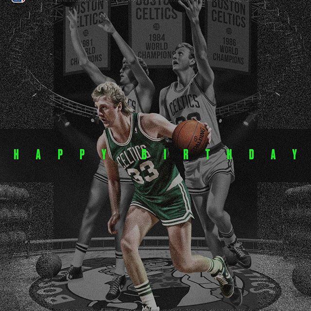 NBA官方发图祝拉里-伯德61岁生日快乐