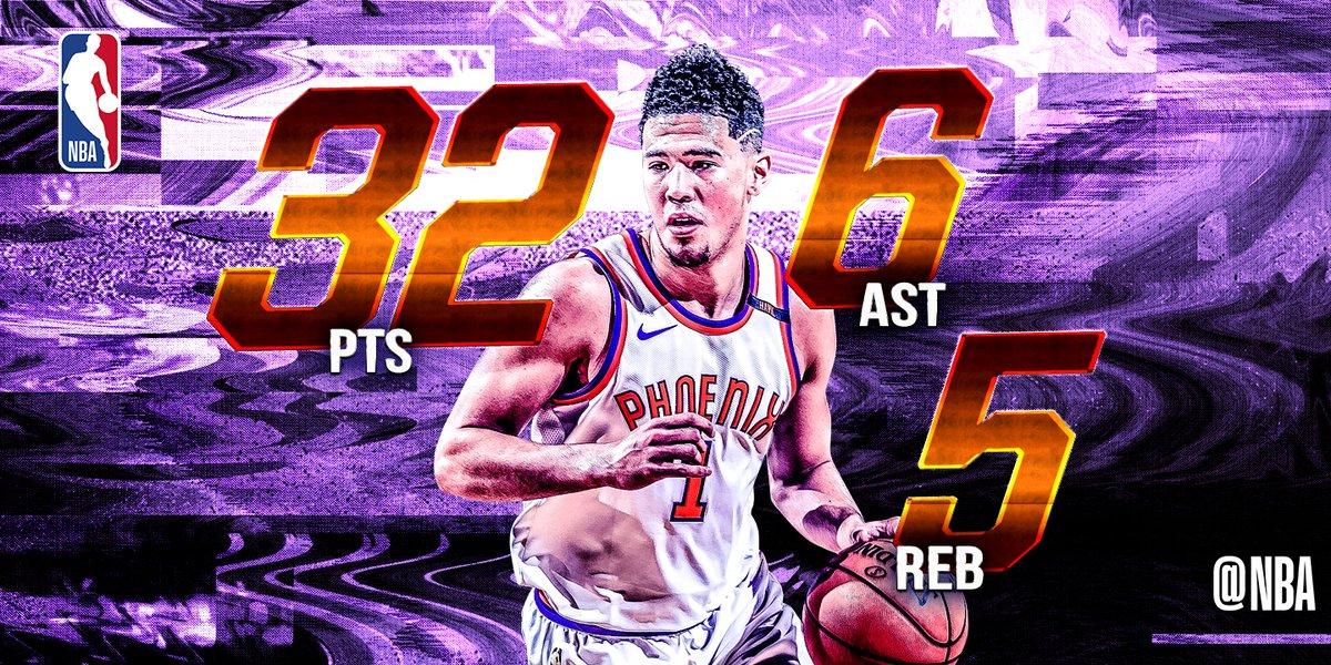 NBA官方发布今日最佳数据:布克32+5+6当选
