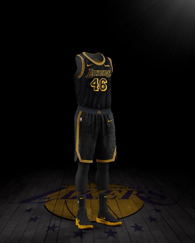 湖人新款城市版球衣发布,由科比亲自设计