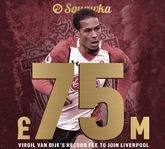 曼晚:曼城从未准备为范戴克支付超过5000万英镑