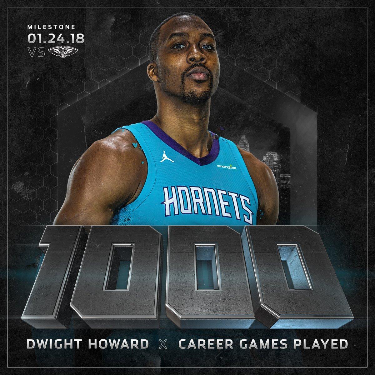 霍华德常规赛生涯出场数达到1000场