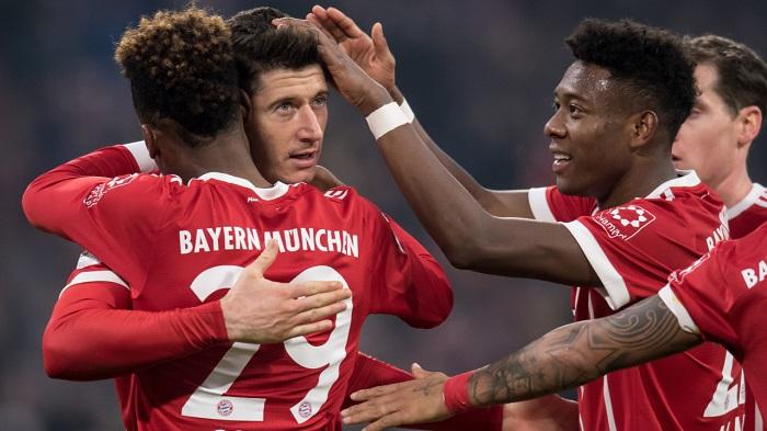 拜仁vs霍芬海姆赛后评分:科曼莱万罗本高分