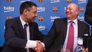 巴萨与倍科就续约达成一致,三年获5700万欧赞助费