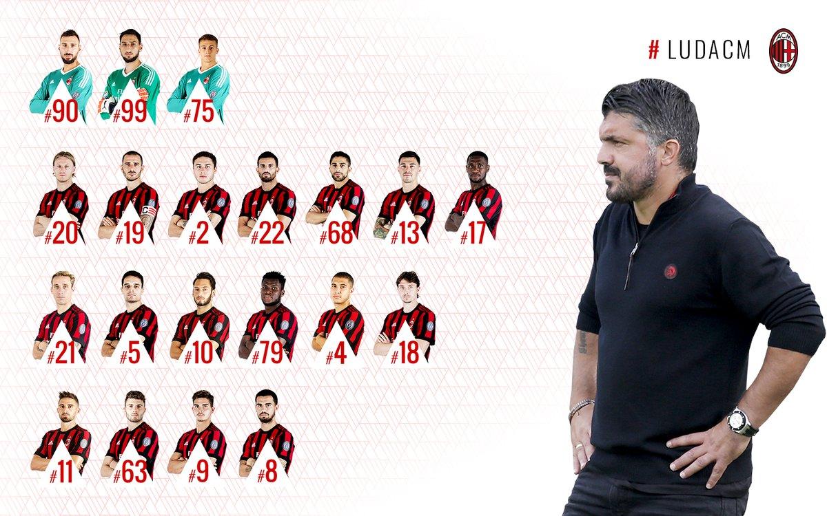 米兰出战欧联杯大名单:卡利尼奇和洛卡特利缺阵