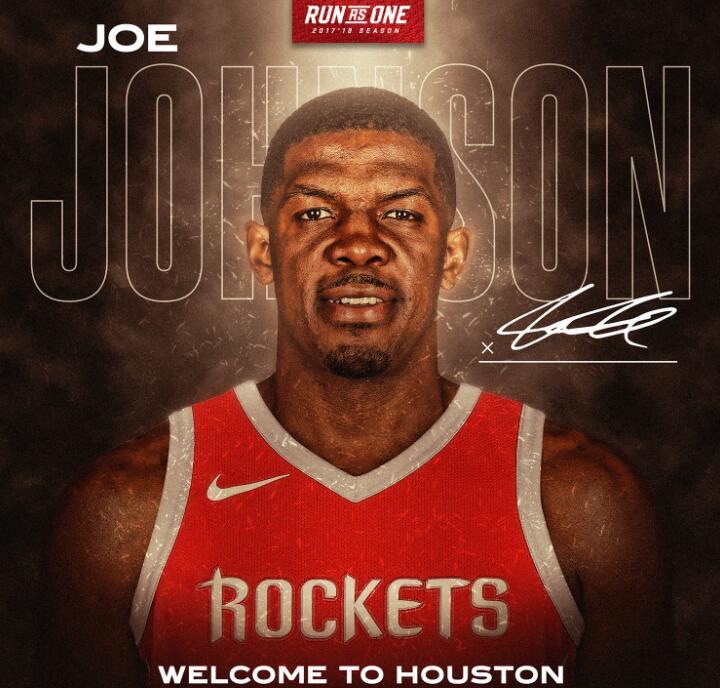 官方:火箭正式签下乔-约翰逊