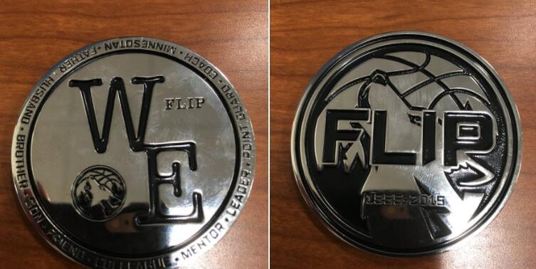 森林狼将在明日比赛中发放桑德斯的纪念硬币