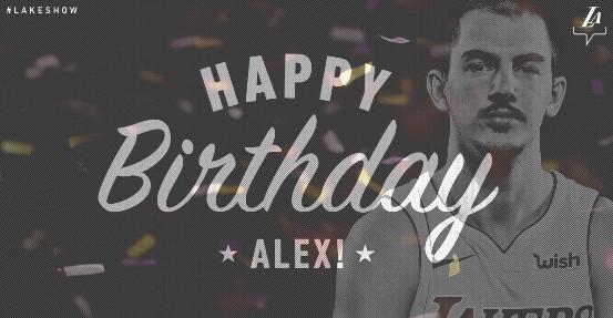 湖人官方祝亚历克斯-卡鲁索24岁生日快乐
