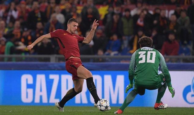 欧冠:哲科制胜球,罗马1-0两回合2-2淘汰矿工
