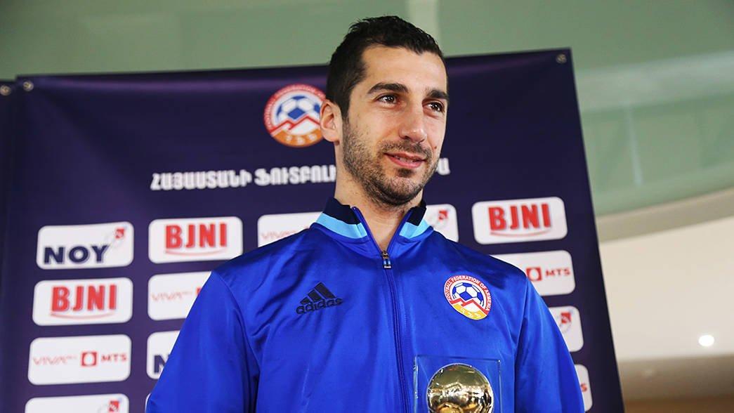 八度获奖!姆希塔良荣膺亚美尼亚年度足球先生