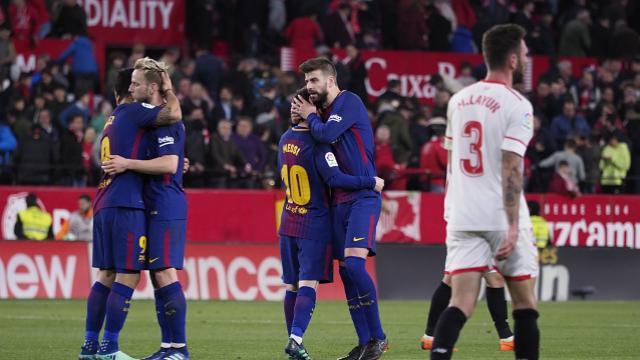 巴斯克斯穆里尔破门苏亚雷斯梅西2分钟2球,巴萨客场2-2绝平塞维利亚