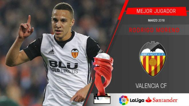官方:瓦伦西亚前锋罗德里戈当选西甲3月最佳球员
