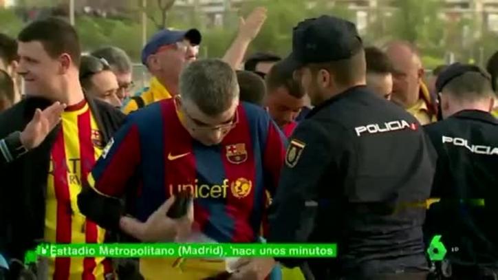 国王杯决赛前马德里警方没收加泰区旗色球衣