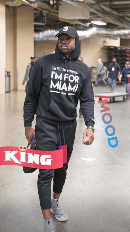 韦德社交媒体发布个人照描述心情:国王
