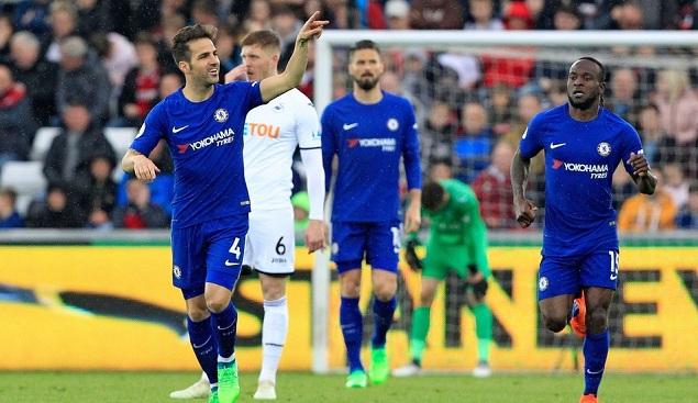 法布雷加斯制胜球,切尔西客场1-0赛季双杀斯旺西城