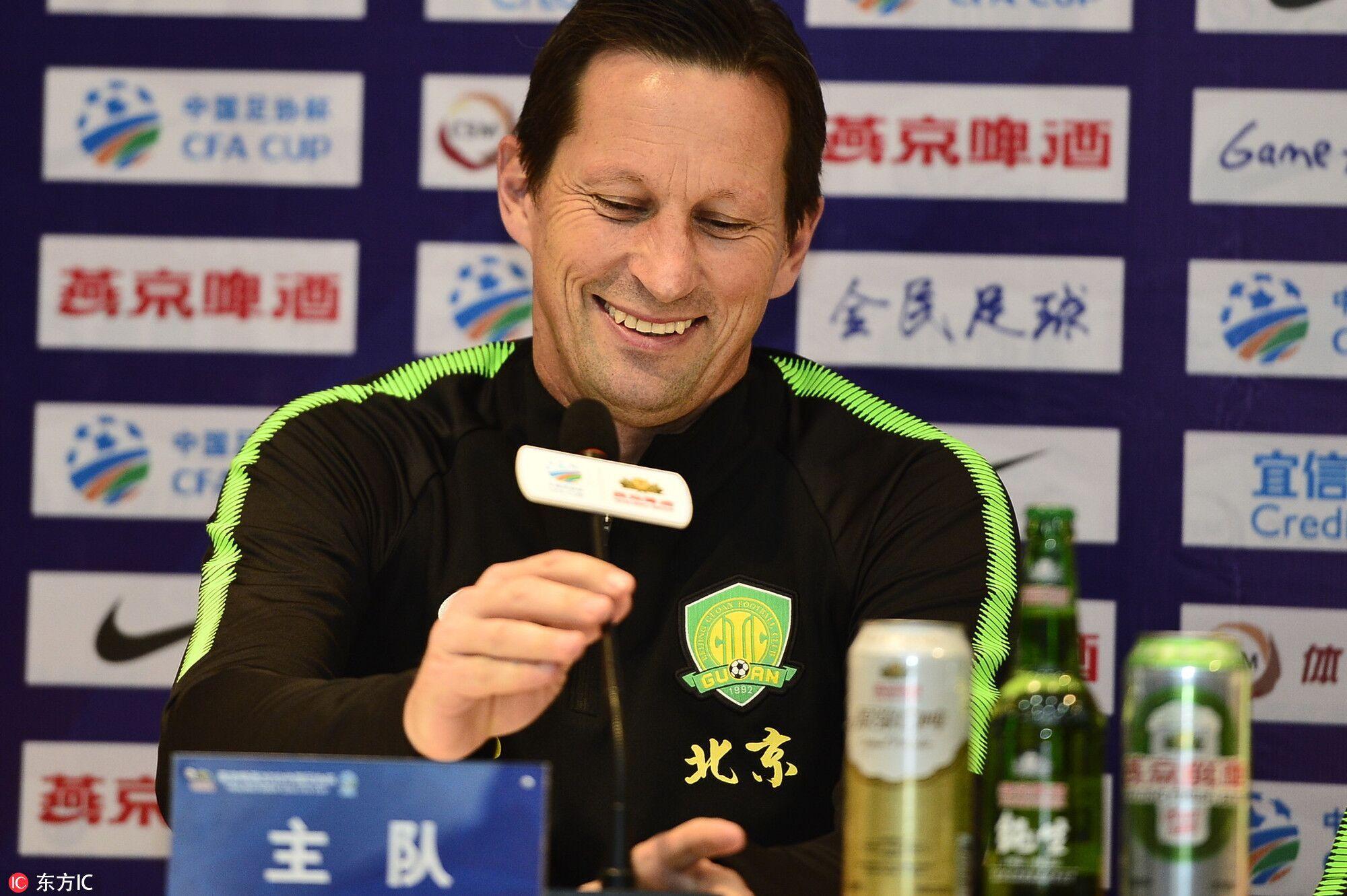 施密特:足协杯争取战胜泰达,策略会跟踢贵州不同