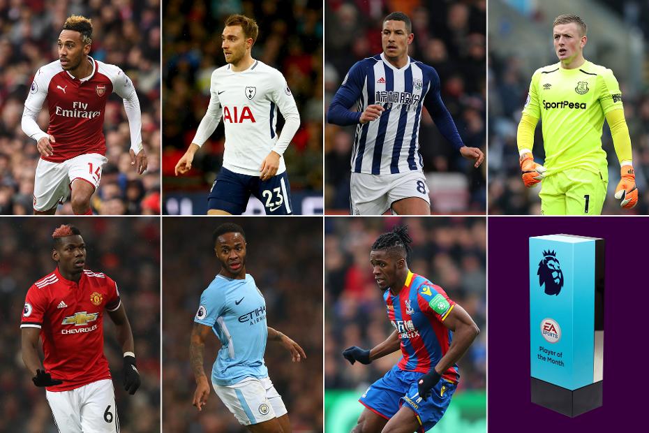 英超4月最佳球员候选:奥巴梅扬、博格巴、埃里克森领衔