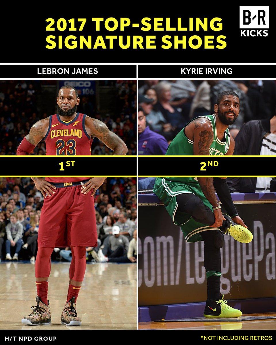 2017年签名鞋销量排行:詹姆斯欧文杜兰特位居前三
