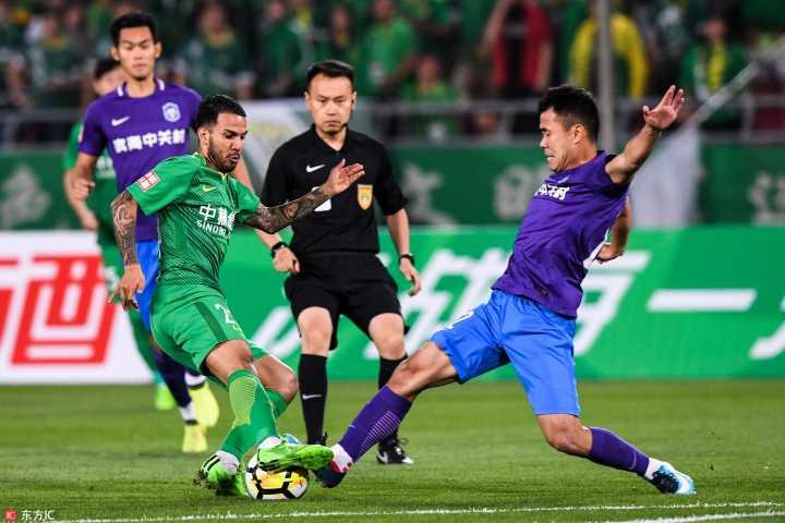 足协杯:索里亚诺破门乔纳森染红,国安1-0泰达