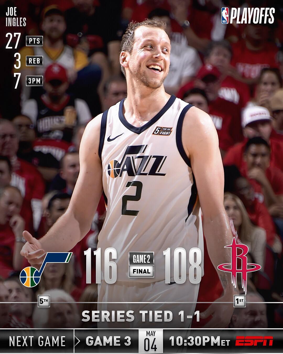 NBA官方发布爵士今日获胜的战报图