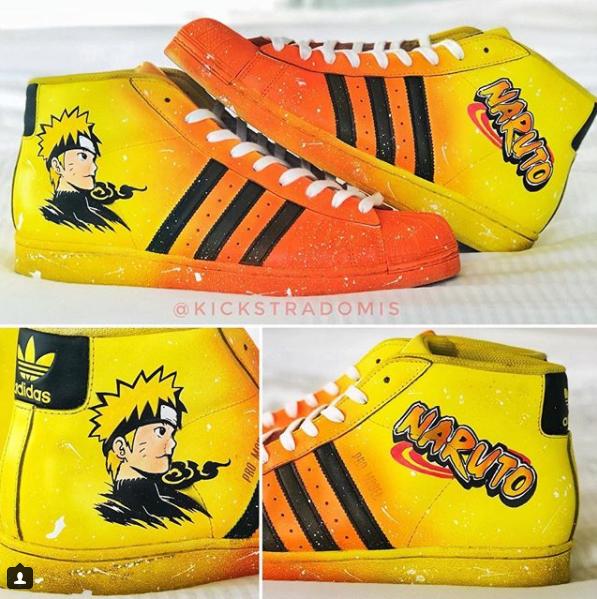 潮!林书豪晒出自己定制的火影主题新鞋