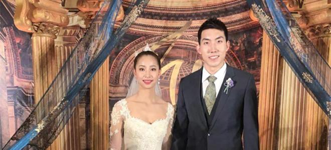 天津男篮张智涵与天津女排王茜携手步入婚姻殿堂