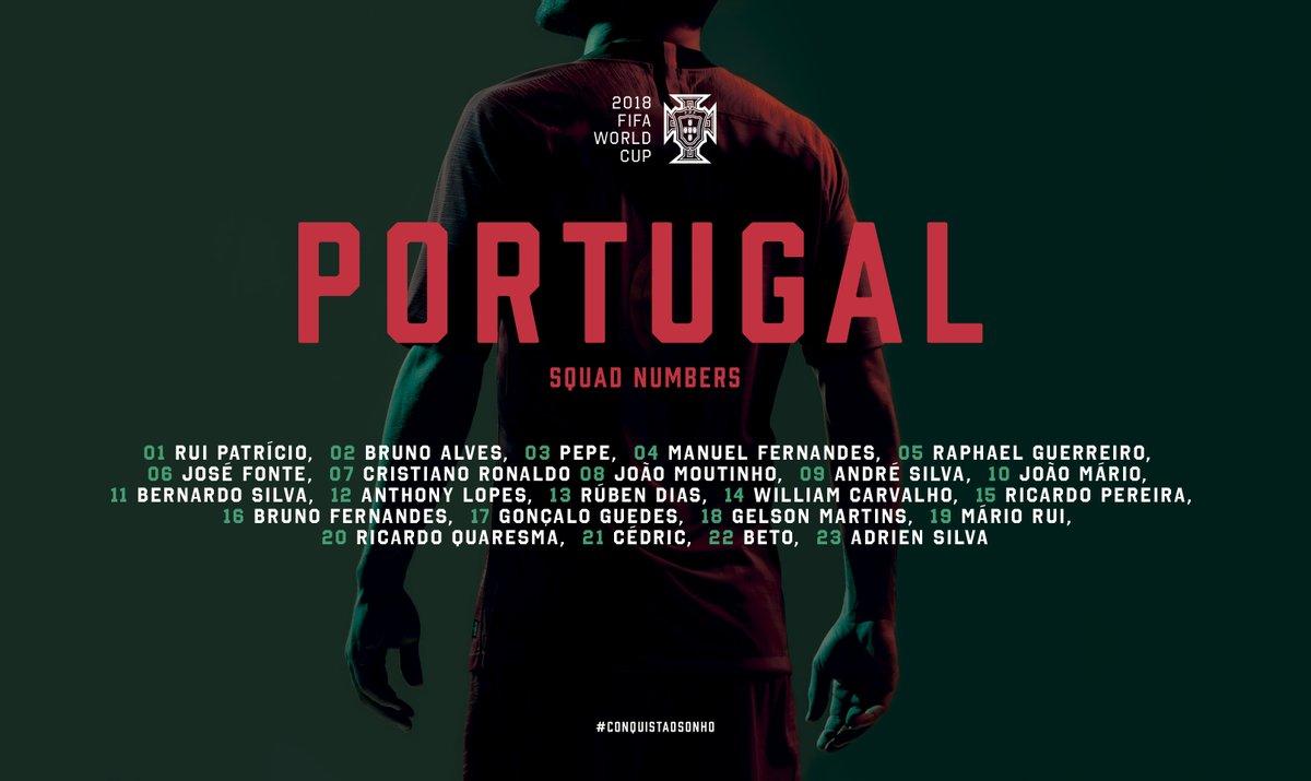 葡萄牙世界杯号码:<a href=http://bf.310bf.net target=_blank class=infotextkey>C罗</a>7号,格德斯接过17号