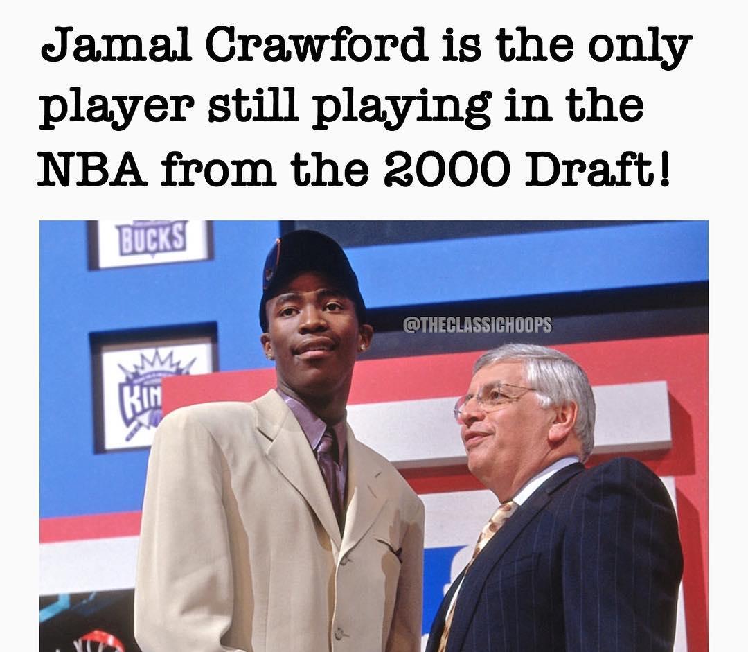 贾马尔-克劳福德是2000年选秀中仅剩的现役球员