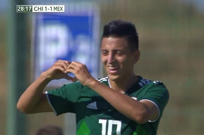 GIF:被扳平!阿尔瓦拉多破门,国青1-1墨西哥
