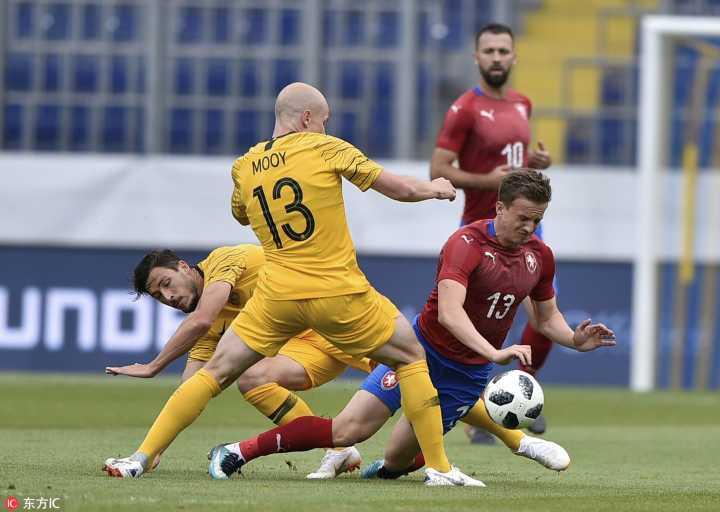 热身赛:塞恩斯布里首发,澳大利亚4-0捷克