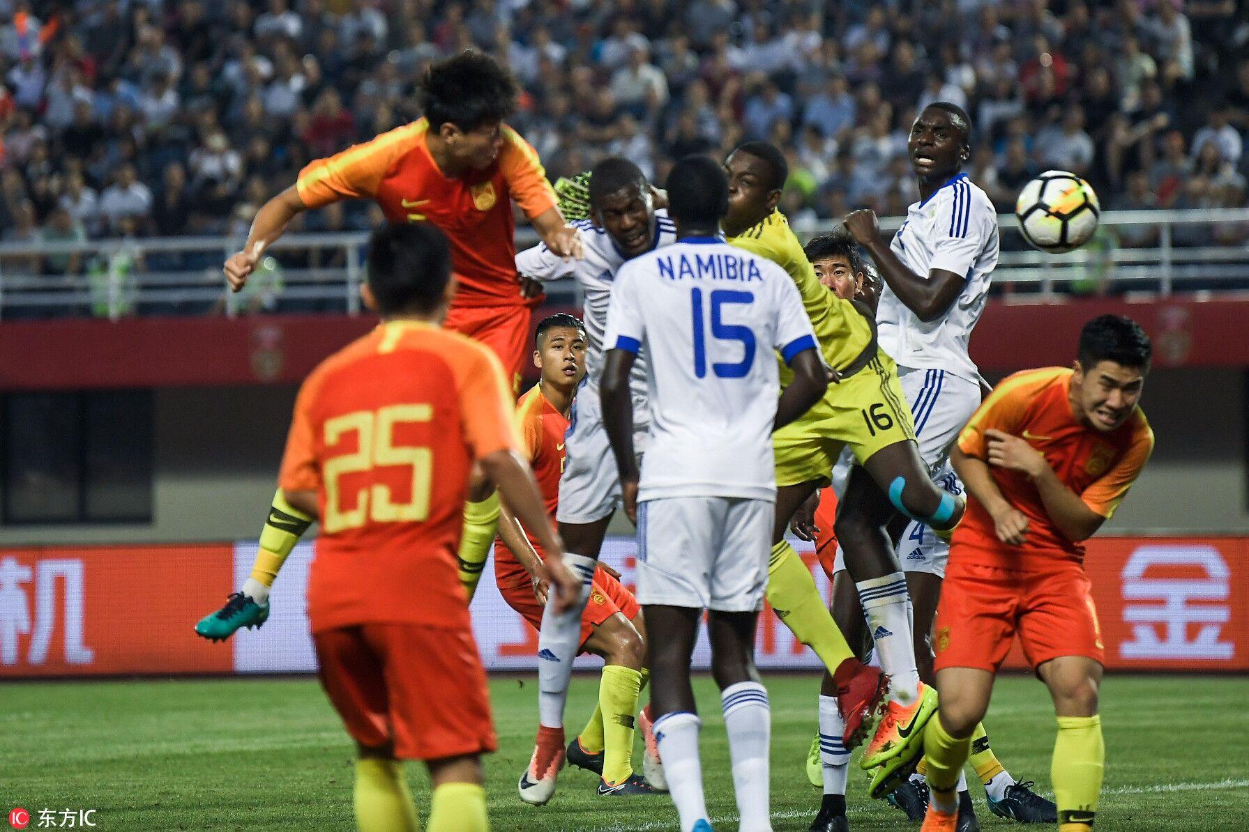 热身赛:高准翼双响张玉宁破门,U23国足4-2纳米比亚