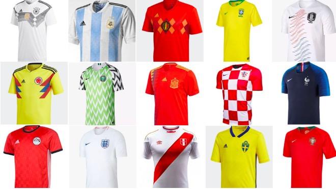马卡报读者票选世界杯最佳球衣:尼日利亚和法国好评