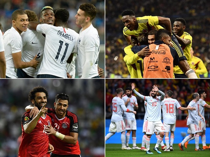 踢球者世界杯32支球队分级:西班牙德国巴西五星