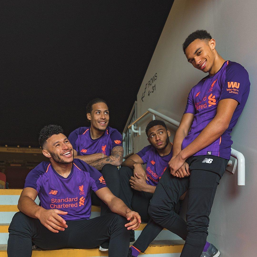 利物浦2018/19赛季客场球衣震撼发布