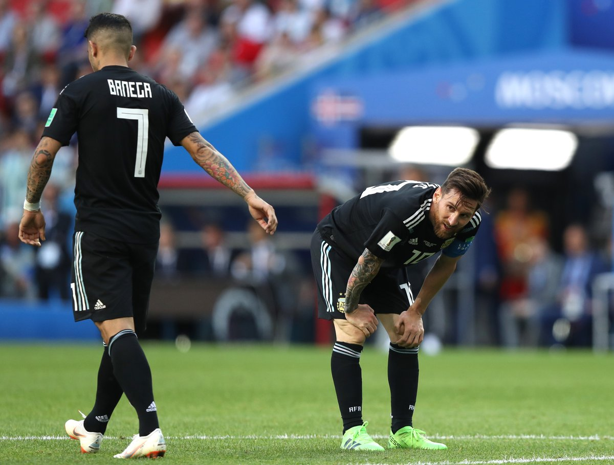 梅西11次射门无功而返,世界杯个人近44年首次