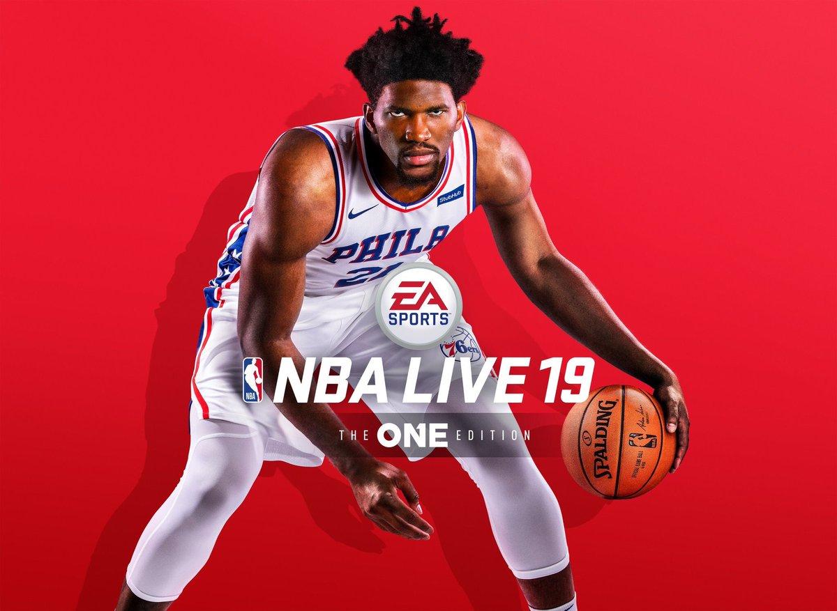 恩比德发推:很激动地宣布我将登上NBA Live 19的封面