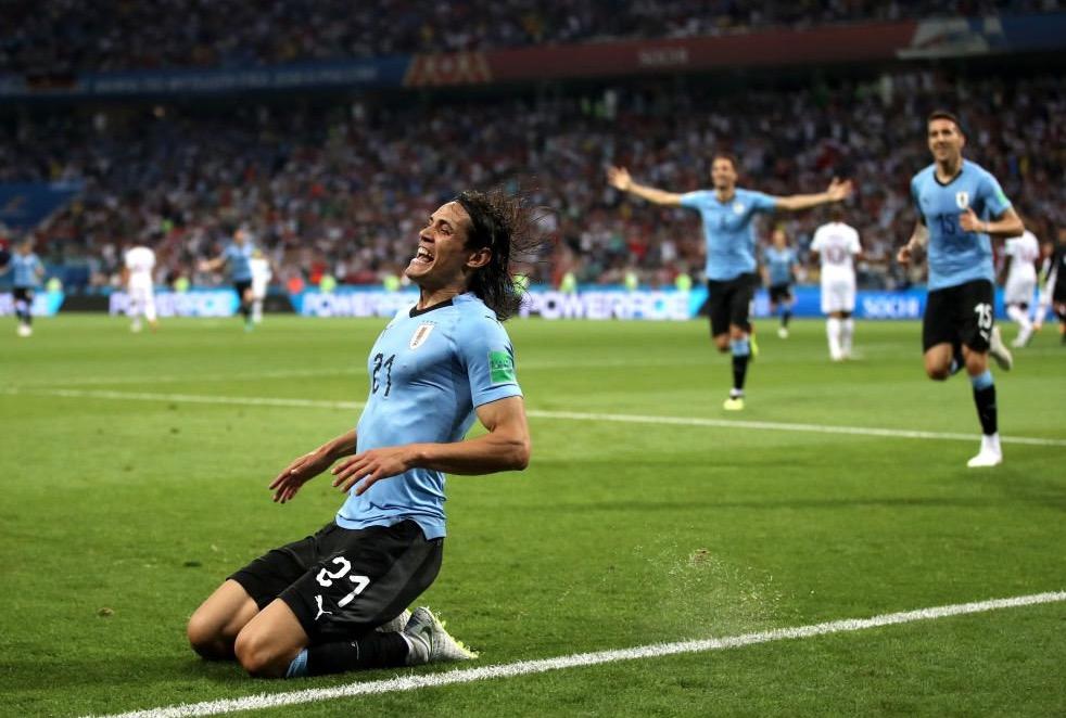 全面!卡瓦尼加入本届世界杯左脚右脚头球破门俱乐部