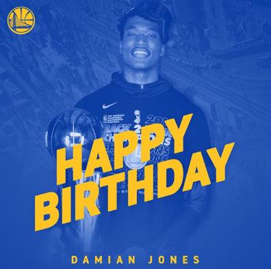 壮士 官方祝达米安-琼斯23岁诞辰 欢愉