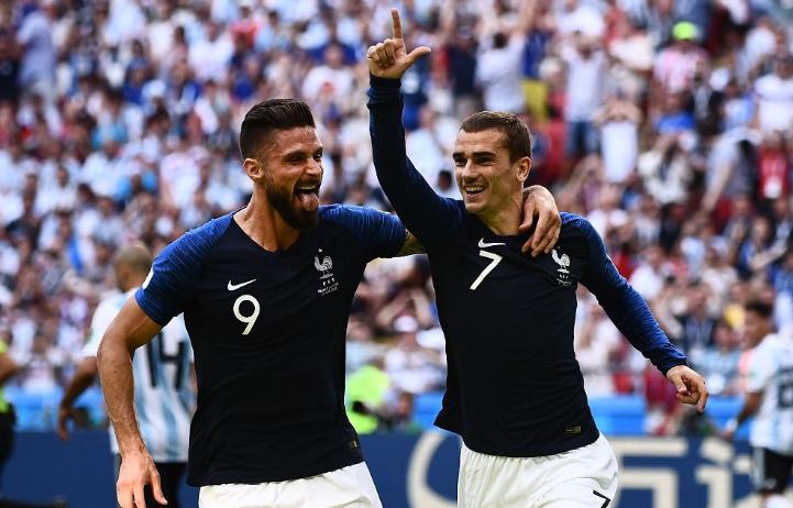 格列兹曼发文庆祝赢球:四分之一决赛!去吧法兰西!
