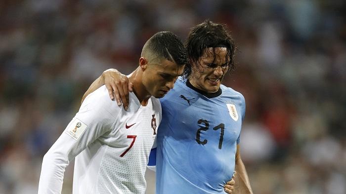 卡瓦尼缺席乌拉圭训练,还在等待具体诊断结果