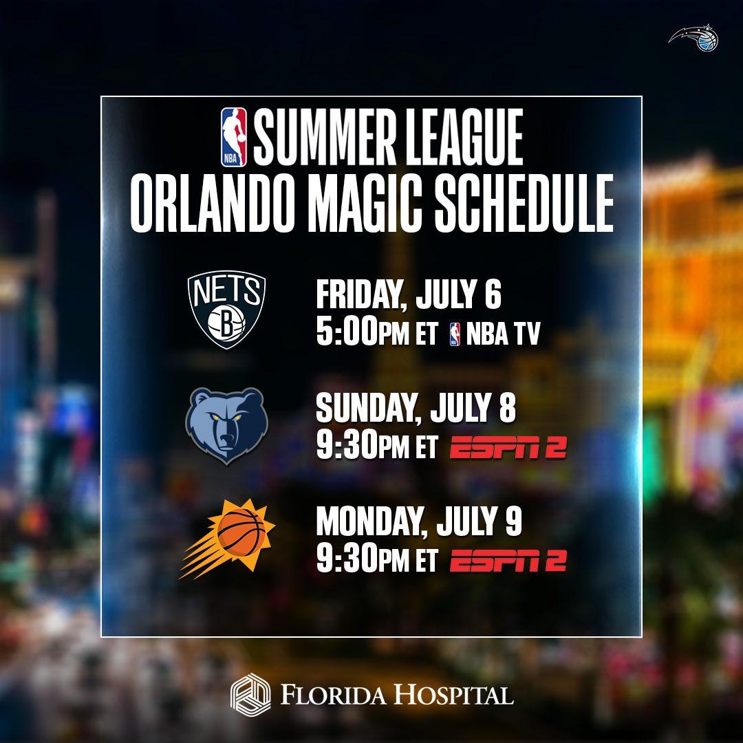 魔术官方公布球队夏季联赛赛程:首战对阵篮网