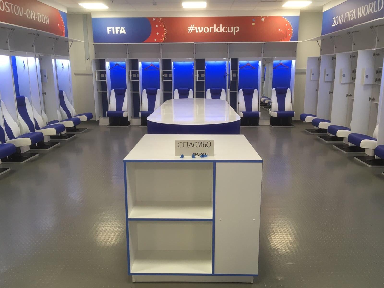赛后打扫更衣室用俄语留言致谢,FIFA官微点赞日本队