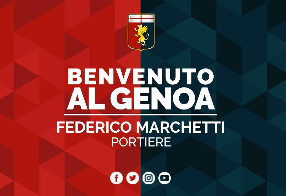官方:热那亚签下拉齐奥门将费德里科-马尔凯蒂