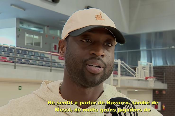 韦德造访巴塞罗那:我有梅西,内马尔和纳瓦罗的球衣