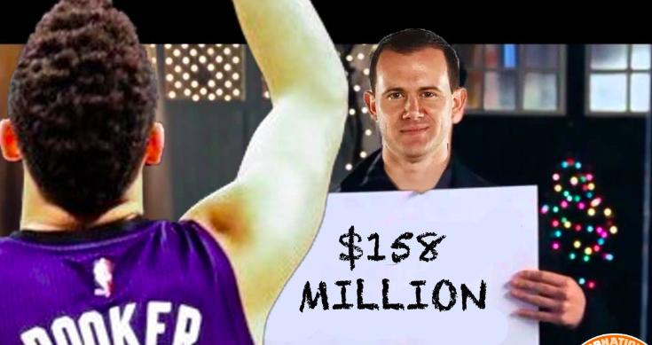 布克将以5年1.58亿顶薪和太阳提前续约