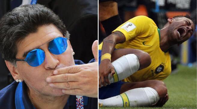 马拉多纳:内马尔让你又哭又笑,巴西很强大